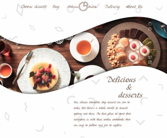 Дизайн сайта продажи десертов