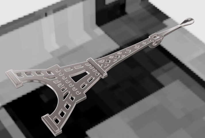 кулон, эйфелева башня с ложечкой