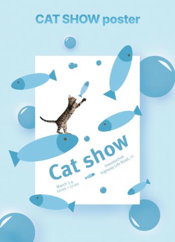 Плакат для выставки кошек