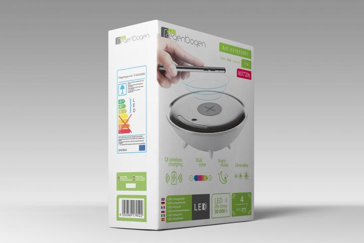 Дизайн упаковки для светильника-зарядки