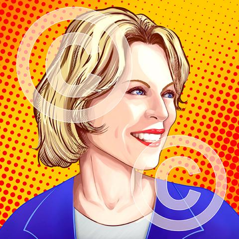 портрет в стиле поп-арт для инстаграма