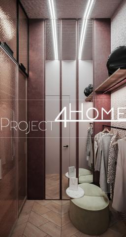Дизайн-проект коттеджа 272 м2 (2-й этаж мансарды) - гардеробная