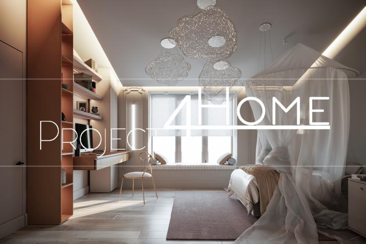 Дизайн-проект коттеджа 272м2 (2-й этаж мансарды) детская комнаты