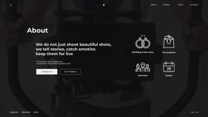 Abaut me Сайт для фотогрофа