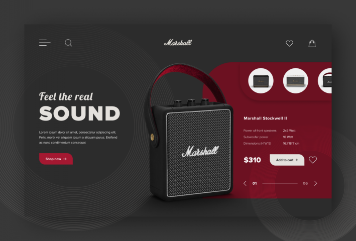 Marshall Speakers Design Concept
