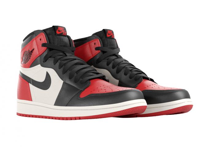 Air Jordan Product Rendering