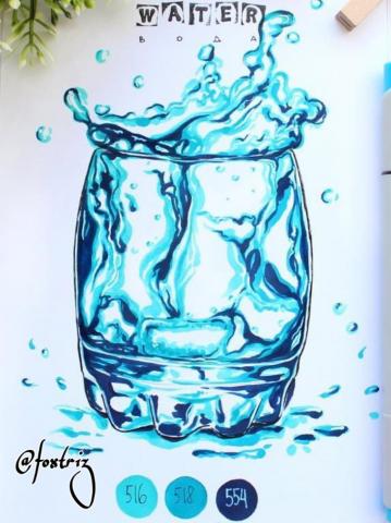 Скетч стакан