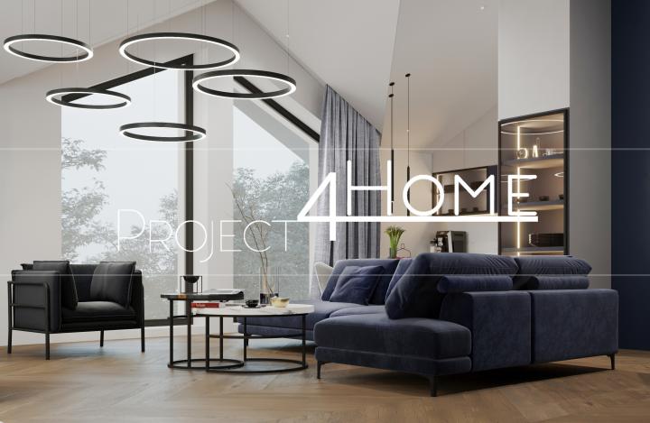 Дизайн-проект гостевого дома 125 м2 - (гостиная-кухня)