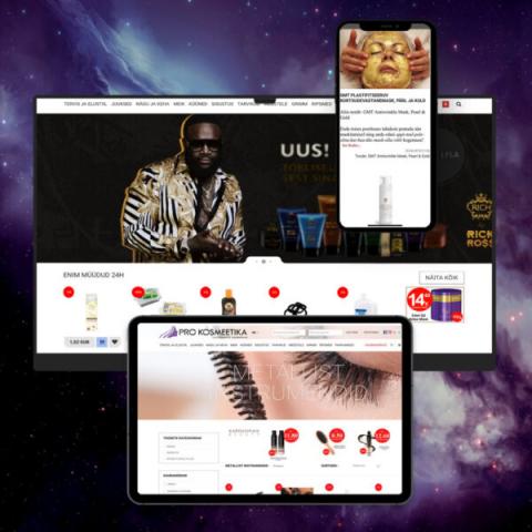 Интернет-магазин, web-приложение PROKOSMEETIKA