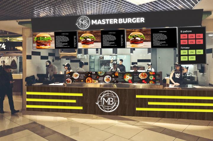 """Наружная реклама для """"Master burger"""""""