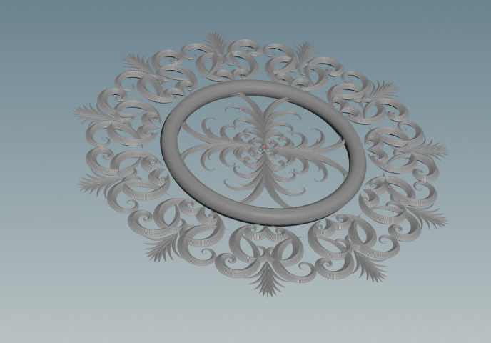 Декоративное моделирование. круг