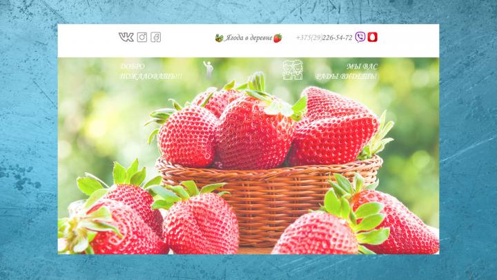 Дизайн сайта и верстка с формой обратной связи