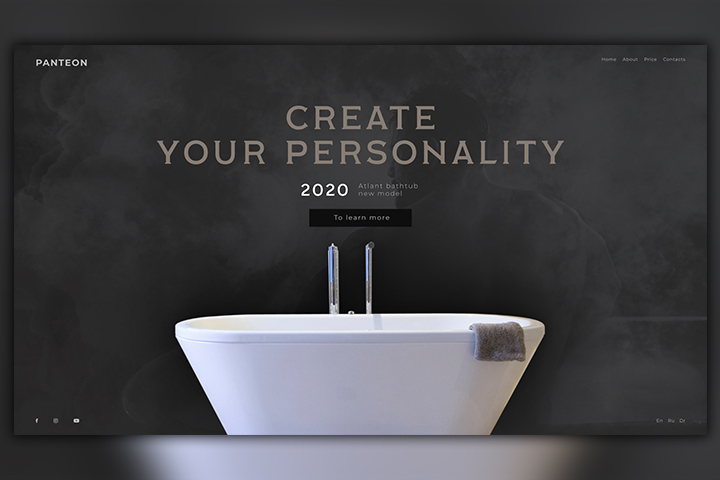 Дизайн сайта компании PANTEON