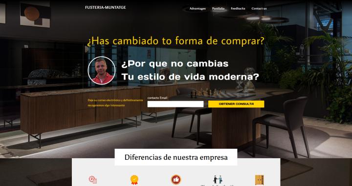 сайт испанской компании Fusteria-muntatge