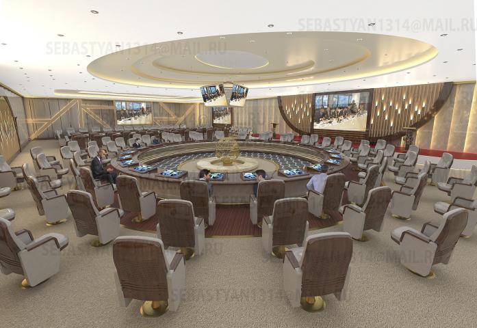 Зал заседаний Правительства г. Москвы
