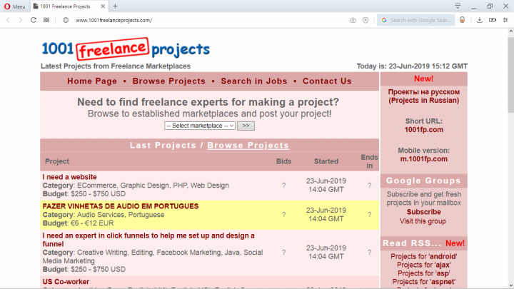 019 - 1001 Freelance Projects