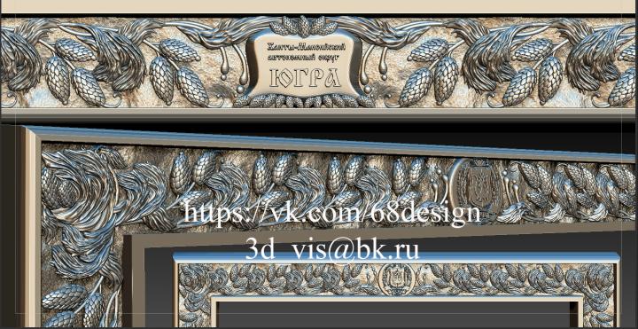 Эскиз и 3d модель рамы для картины