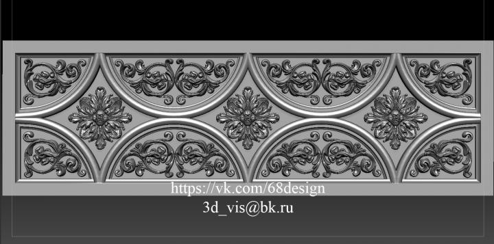 Резные кухонные фасады. 3d модель