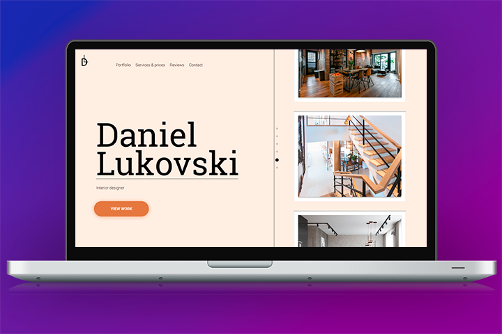Сайт Дизайнера интерьеров