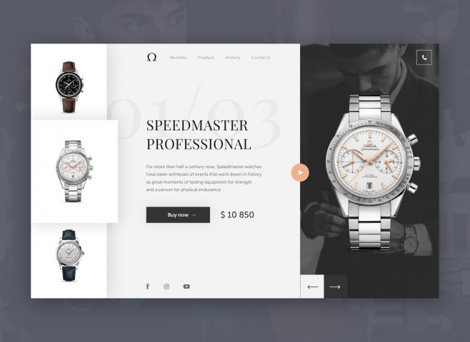 Omega Watch / UI/UX Design