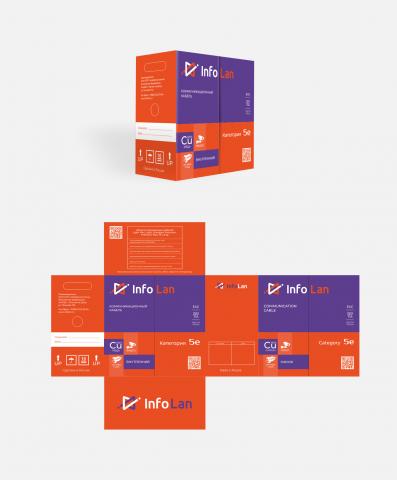 Логотип и дизайн упаковки InfoLan