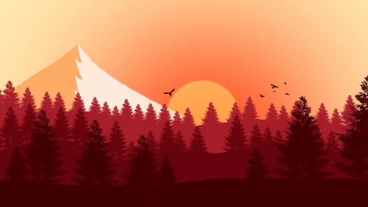 2D landscape (Sunset)