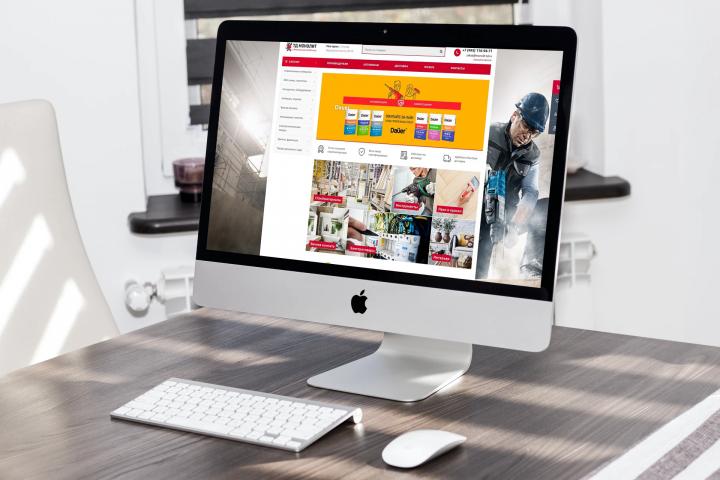 Создание сайта интернет-магазина стройматериалов ТД Монолит