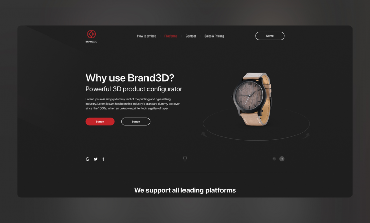Landing page (Brand3D)