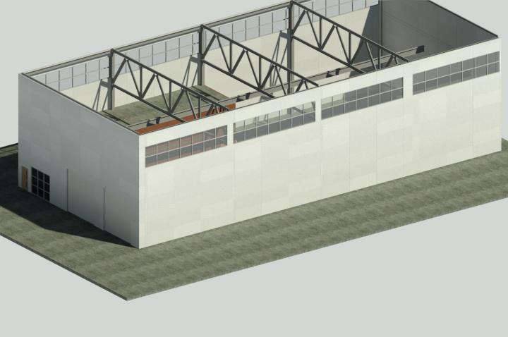 Проект склада 900 м2