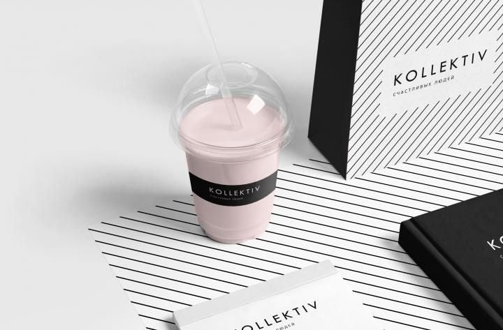 Разработка логотипа и фирменного стиля для кофейни KOLLECTIVE