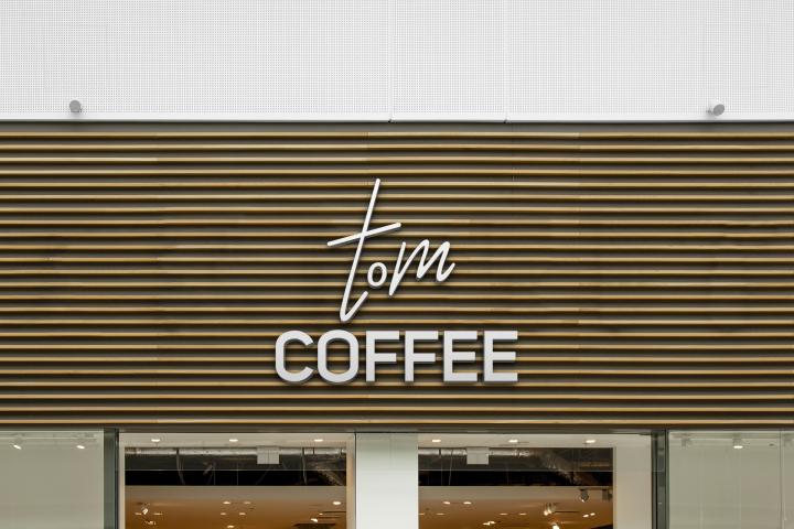 Разработка логотипа для кофейни tom COFFEE