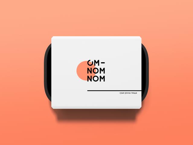 Разработка брендинга для доставки еды OM NOM NOM