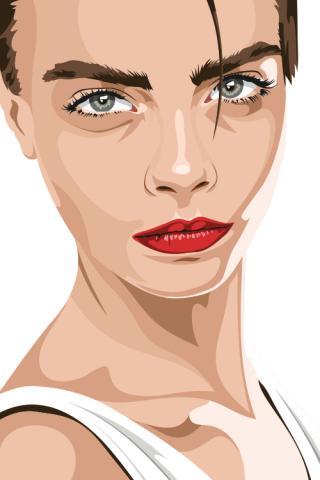 Кара Делевинь (портрет)