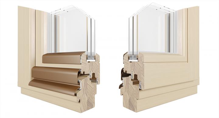 Визуализация образца деревянного окна