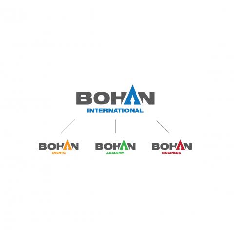 Сет из логотипа головного проекта и его подразделений.
