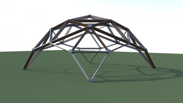 Проектирование квадросферы (беседка)