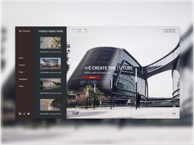 Корпоративный сайт строительной компании