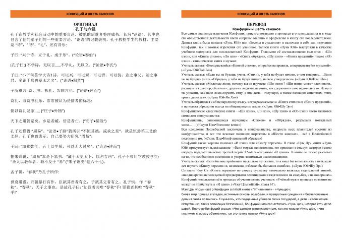 Конфуций и шесть канонов