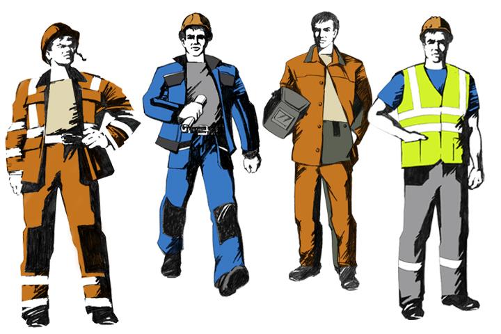 Персонажи в стиле советских плакатов