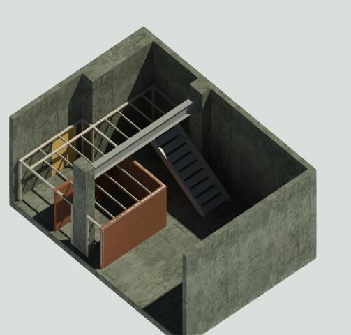 КМ. Проект лестницы в жилом доме