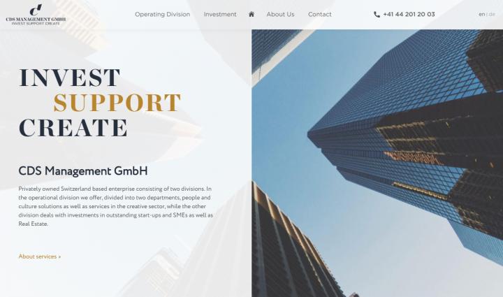 «CDS» — верстка многостраничного сайта под WordPress