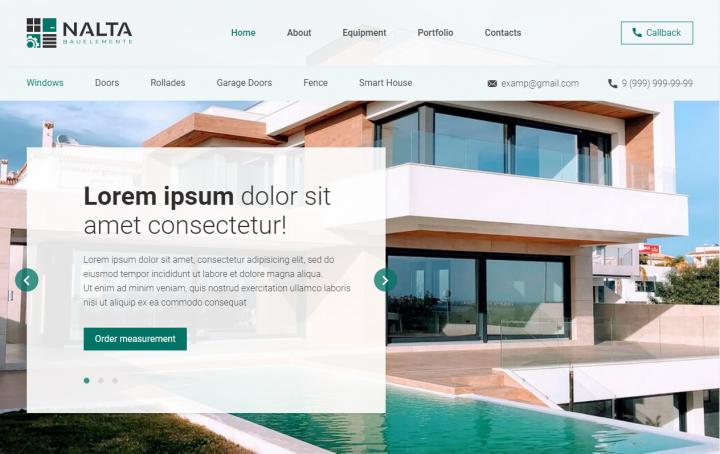 «Nalta» — верстка многостраничного сайта под WordPress
