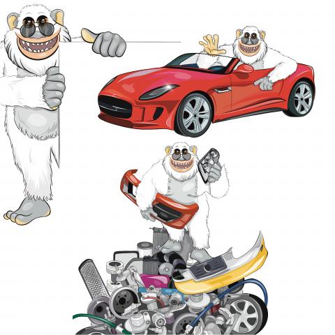 Иллюстрации для сайта автозапчастей