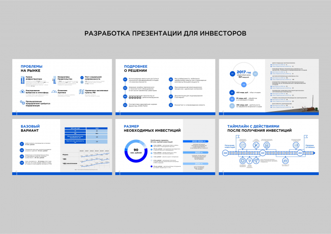 Разработка презентации для инвесторов