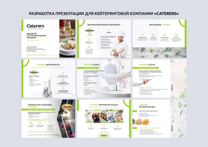 Разработка презентации для кейтеринговой компании