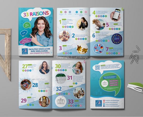 Буклет для детского программного обеспечения KIDS CLOUD