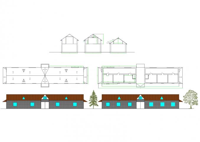 Проект дома с 3мя вар. мансарды