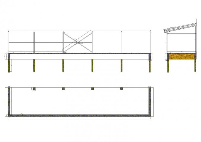 Бетонная рампа и металлический навес