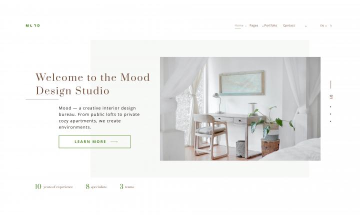 Сайт для студии дизайна Mood