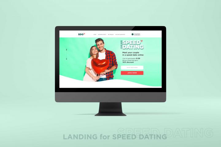 Лэндинг для сайта знакомств